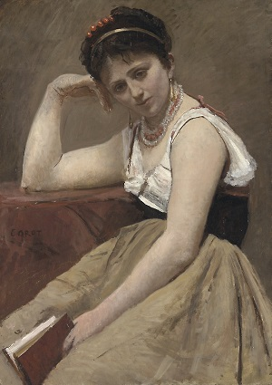 Interrupted Reading, Jean-Baptiste-Camille Corot, 1870